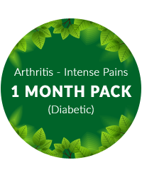Arthritis (Intense pains) 1 month Pack for Diabetics