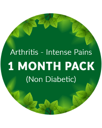 Arthritis (Intense pains) 1 month Pack for Non Diabetics