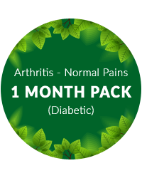Arthritis (Normal pains) 1 month Pack for Diabetic Patients
