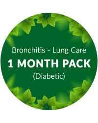 Bronchitis - Lung Care 1 month pack for diabetic patients