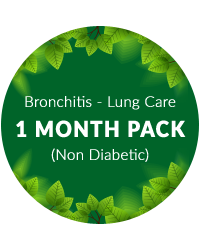 Bronchitis - Lung Care 1 month pack for non diabetic patients