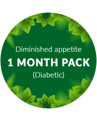 Diminished appetite 1 month pack for diabetic patients
