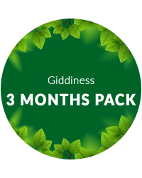 3 Months Pack for Giddiness