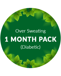 Over Sweating 1 mth pack for diabetic patients