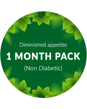 Diminished appetite 1 month pack for non diabetic patients