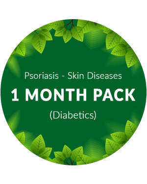 Psoriasis - Skin Diseases 1 month pack for diabetic patients